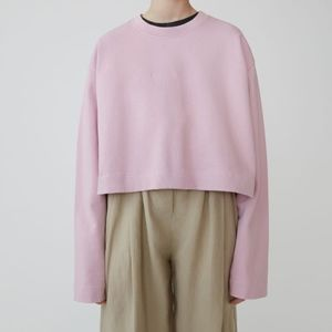 Acne Studios Odice Emboss Cropped Sweatshirt